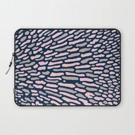 Organic Abstract Navy Blue Laptop Sleeve