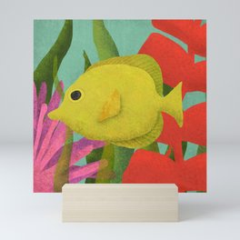 Yellow Fish In The Ocean Mini Art Print