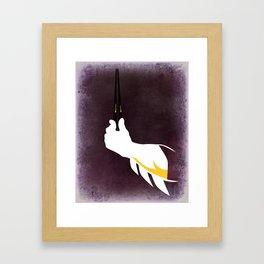 Bat chopsticks Framed Art Print