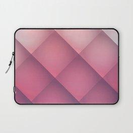 Claret, Pink and White Mosaic Background Laptop Sleeve