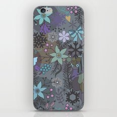 Colorful grey xmas pattern iPhone & iPod Skin