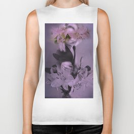 The girl who wanted to be a flower Biker Tank