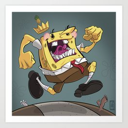 the Pineapple King Art Print