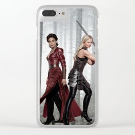 SwanQueen Enchanted Forest Clear iPhone Case