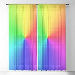 Rainbow Color Wheel Sheer Curtain