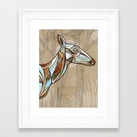 elk Framed Art Prints featuring Elk by dchristo