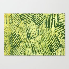 Green striped abstract Canvas Print