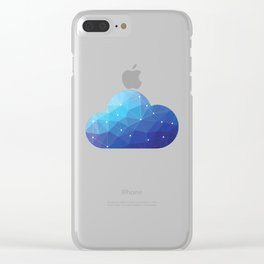 Cloud Of Data Clear iPhone Case