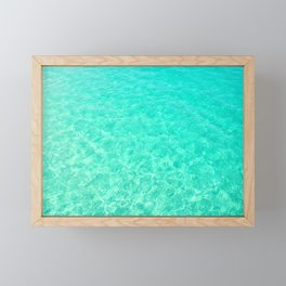Turquoise Blue Ocean Framed Mini Art Print