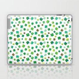Lucky Watercolor Clovers Laptop & iPad Skin