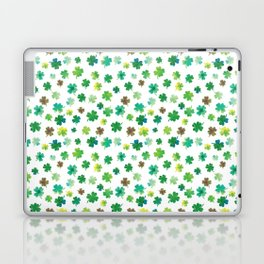 Lucky Watercolor Clovers Laptop & iPad Skin