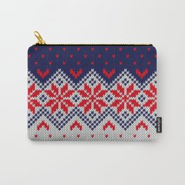 Winter knitted pattern 11 Carry-All Pouch