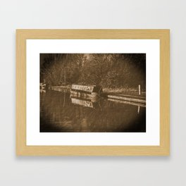 Vintage Duckett Sepia Framed Art Print
