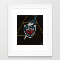 shield Framed Art Prints featuring Shield  by Jennifer Dillon