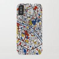 paris iPhone & iPod Cases featuring Paris by Mondrian Maps