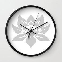 Mindfulness Lotus Wall Clock