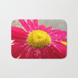 Flower Fuchsia Yellow Explosion I Bath Mat