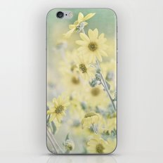 Pastel Wildflowers Yellow Helianthus Daisies -- Botanical Landscape iPhone & iPod Skin