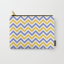 Chevron | White, Yellow & Blue Carry-All Pouch