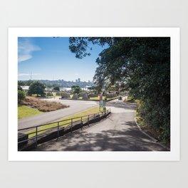 Campsite Driveway Art Print