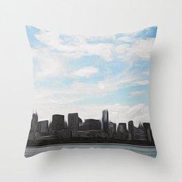 City Swept Throw Pillow