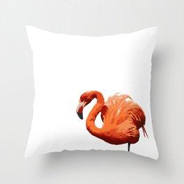 Mean Flamingo Throw Pillow