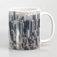 manhattan Mugs featuring Manhattan by Nicklas Gustafsson