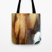 fries Tote Bags featuring Fries by Wild World Of Food