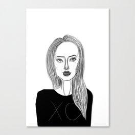 XO Girl Fashion Illustration Canvas Print