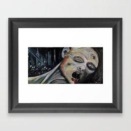 Monday morning zombie Framed Art Print