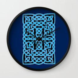 Black and Aqua Celtic Interlace Wall Clock