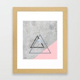 Roughly Soft Framed Art Print