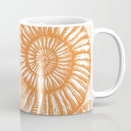 AMMONITE COLLECTION ORANGE Coffee Mug