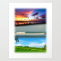 bali Art Prints featuring Bali by Larry Rud