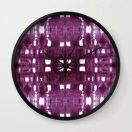 Shibori City Plum Wine Wall Clock