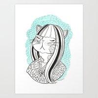 Cat Lady No. 1 Art Print