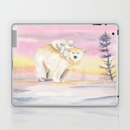 Polar Bear Family Laptop & iPad Skin
