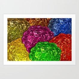 Colorful Jelly Blackberries Art Print