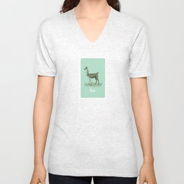 4-legged Exotica Series: Llama Unisex V-Neck