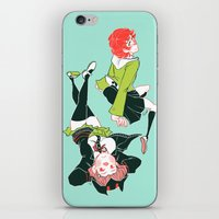 dangan ronpa iPhone & iPod Skins featuring technologic by Cori Walters