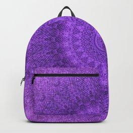 Sunflower Plum Boho Feather Pattern \\ Aesthetic Vintage Bohemian \\ Dark Violet Purple Color Scheme Backpack