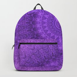 Sunflower Plum Boho Feather Pattern \\ Aesthetic Vintage Bohemian \\ Dark Violet Purple Color Scheme Backpack