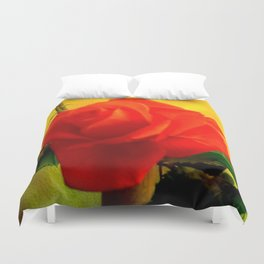 Rote Rose Duvet Cover