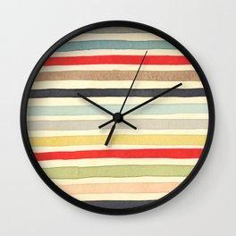 Stripes Watercolor Paint Robayre Wall Clock