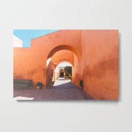 Silencio at the Santa Catalina Monastery, Arequipa, Peru Metal Print