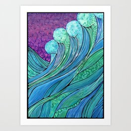 The Ocean In A Storm Art Print