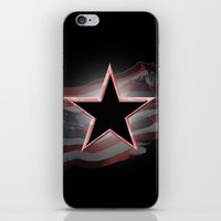 american flag iPhone & iPod Skins featuring American Flag by Jason Michael