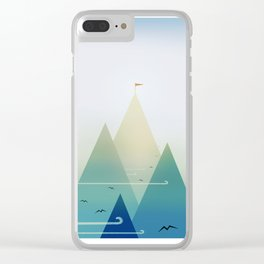 Ones own journey Clear iPhone Case