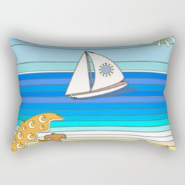 Summertime and the Living is Easy Rectangular Pillow