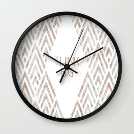 Graphic Art THINK BIG | rose gold & marble Wall Clock